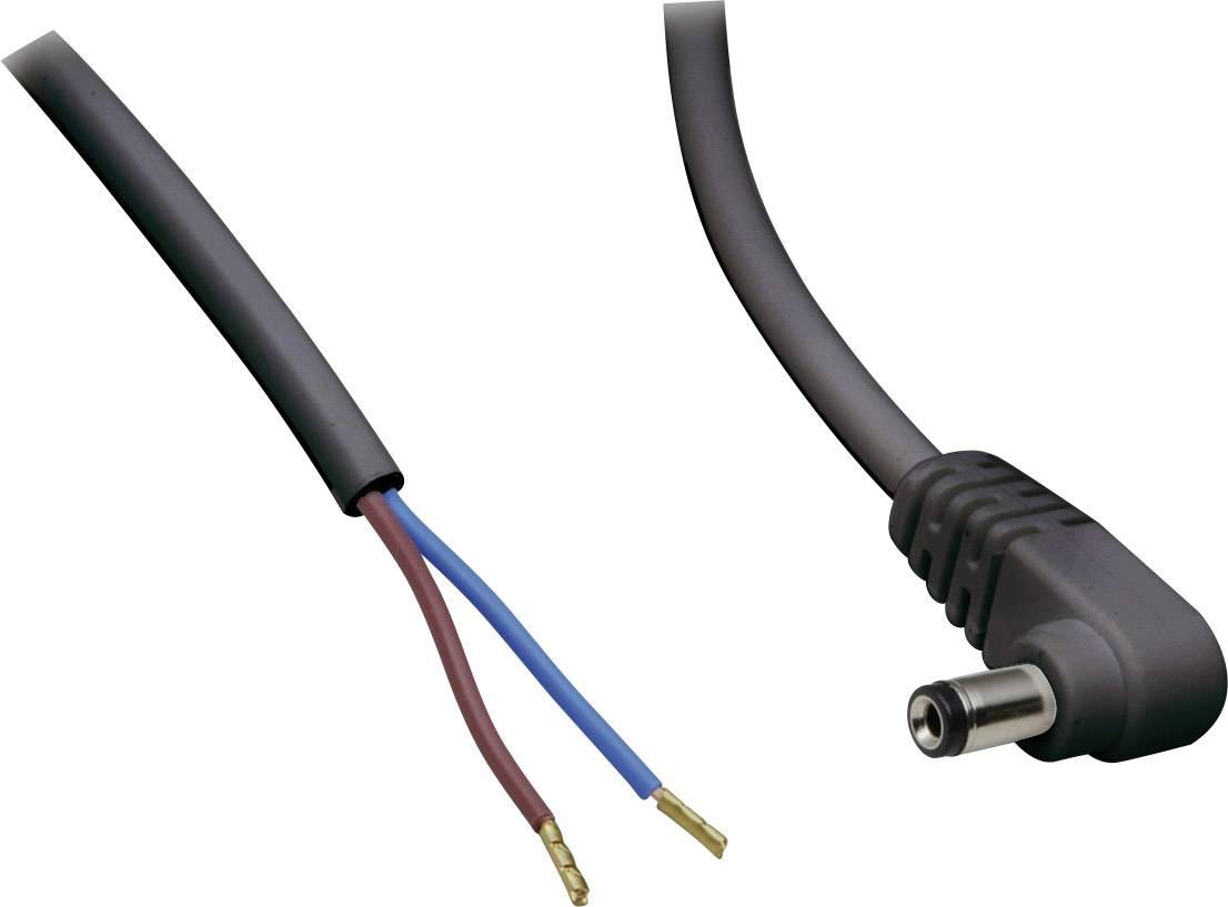 Nízkonapěťový připojovací kabel BKL Electronic 072053, vnější Ø 5.5 mm, vnitřní Ø 2.1 mm, 2 m, 1 ks