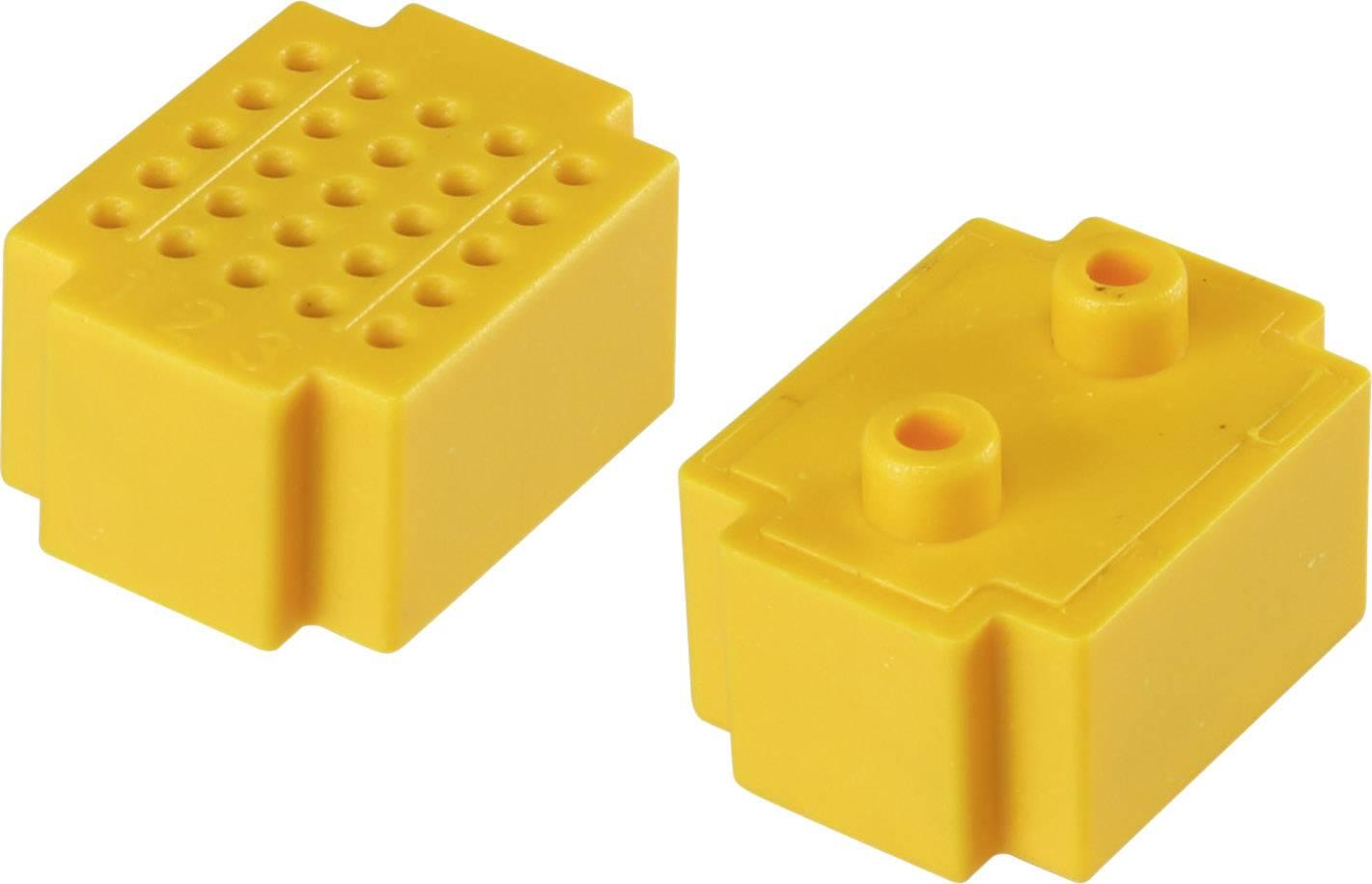 Nepájivé kontaktní pole Conrad Components žlutá, Počet pólů 25, (d x š) 20 mm x 15 mm, 1 ks