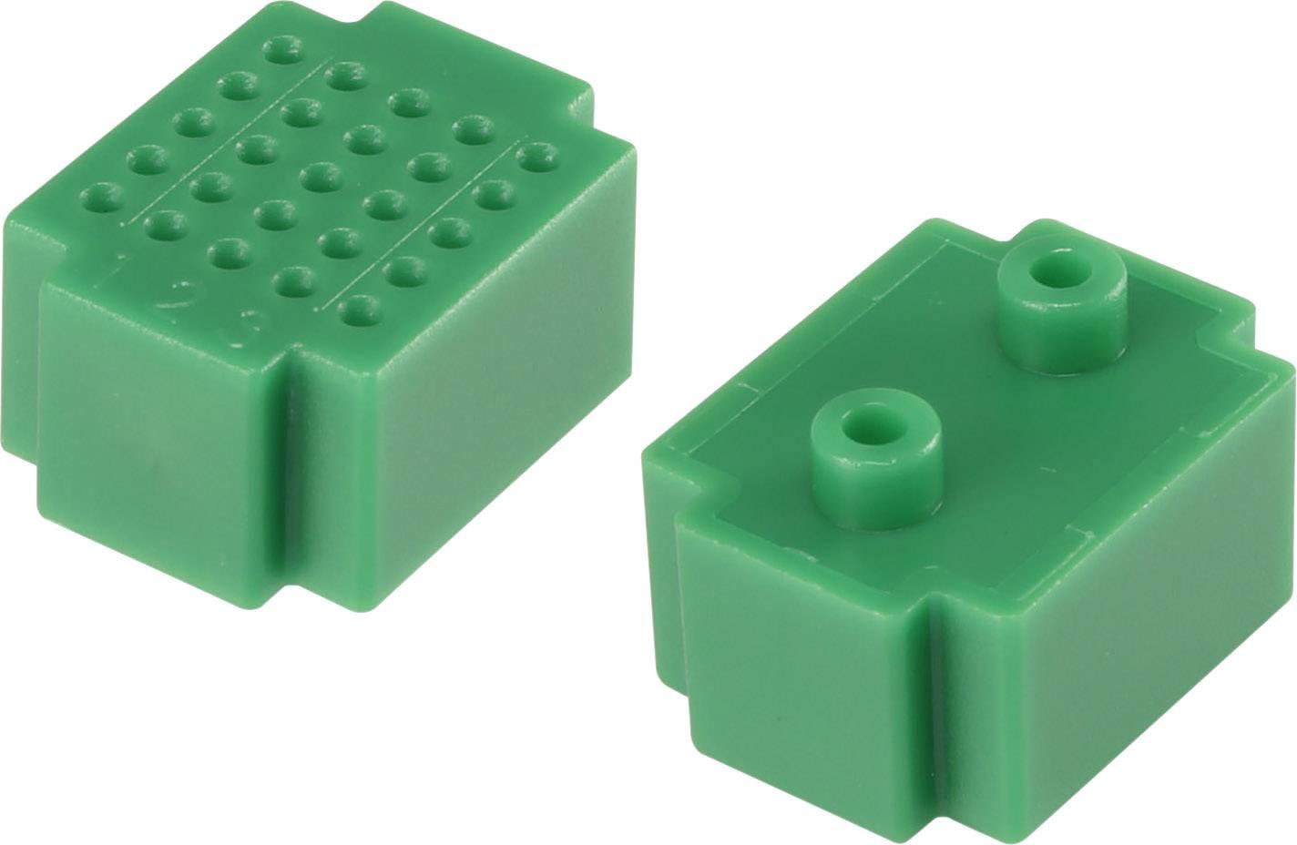 Nepájivé kontaktní pole Conrad Components zelená, Počet pólů 25, (d x š) 20 mm x 15 mm, 1 ks