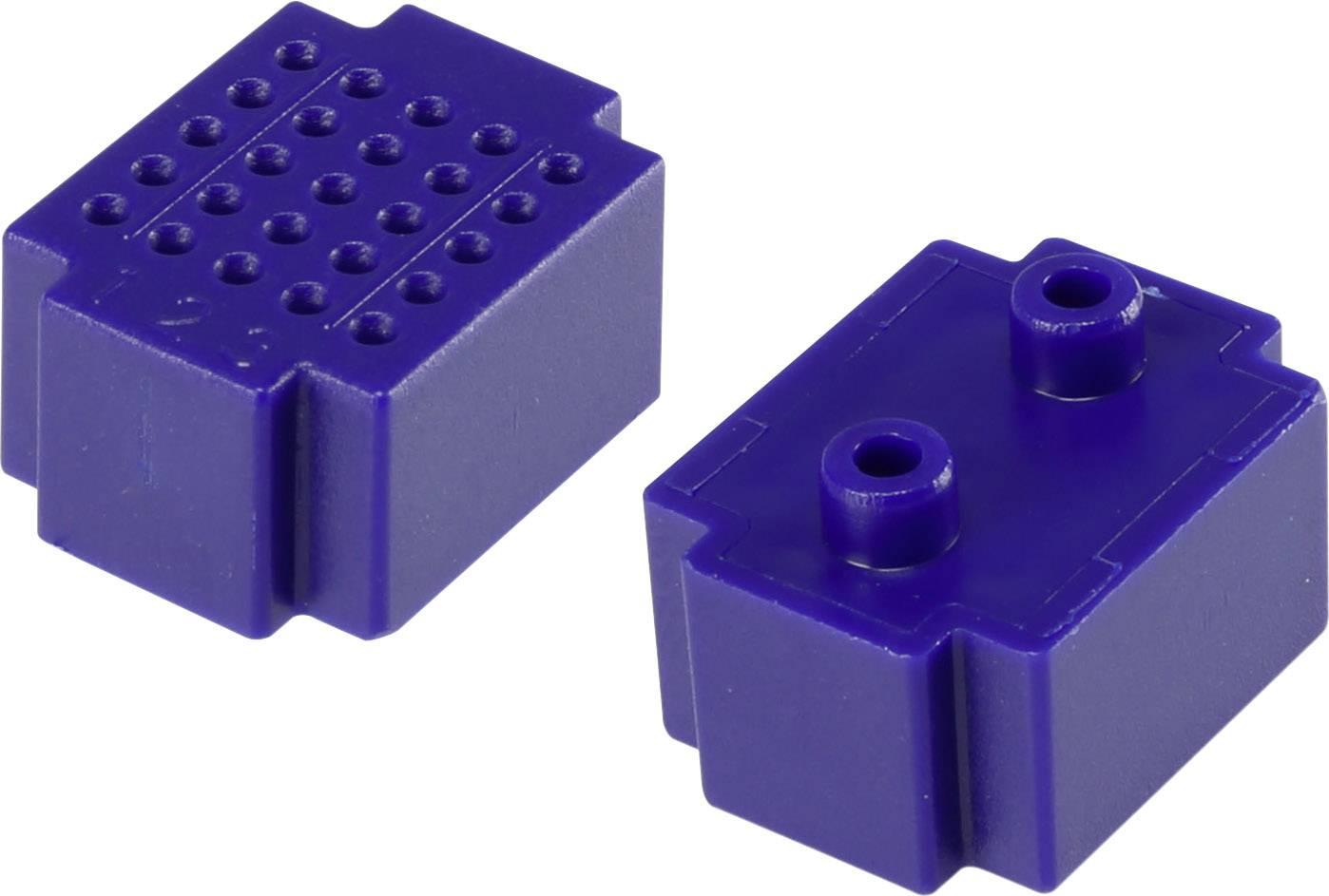 Nepájivé kontaktní pole Conrad Components modrá, Počet pólů 25, (d x š) 20 mm x 15 mm, 1 ks