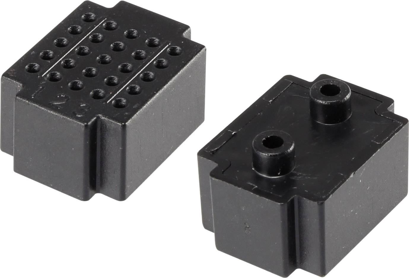 Nepájivé kontaktní pole Conrad Components černá, Počet pólů 25, (d x š) 20 mm x 15 mm, 1 ks