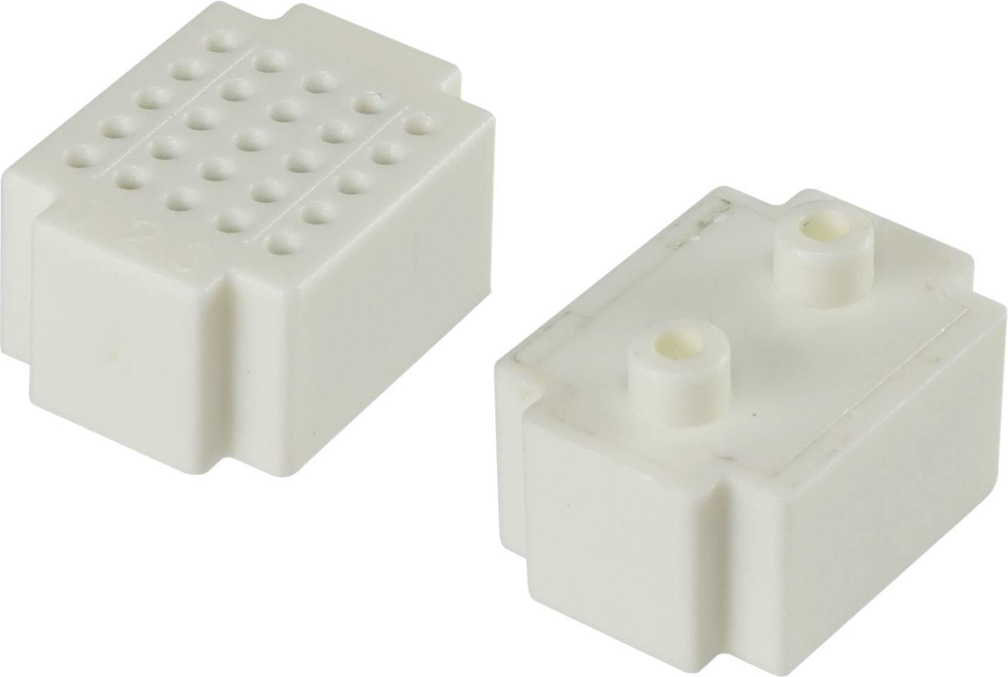 Nepájivé kontaktní pole Conrad Components bílá, Počet pólů 25, (d x š) 20 mm x 15 mm, 1 ks