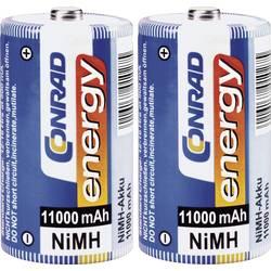 Ni-MH akumulátor velké mono D Conrad energy HR20 11000 mAh 1.2 V 2 ks