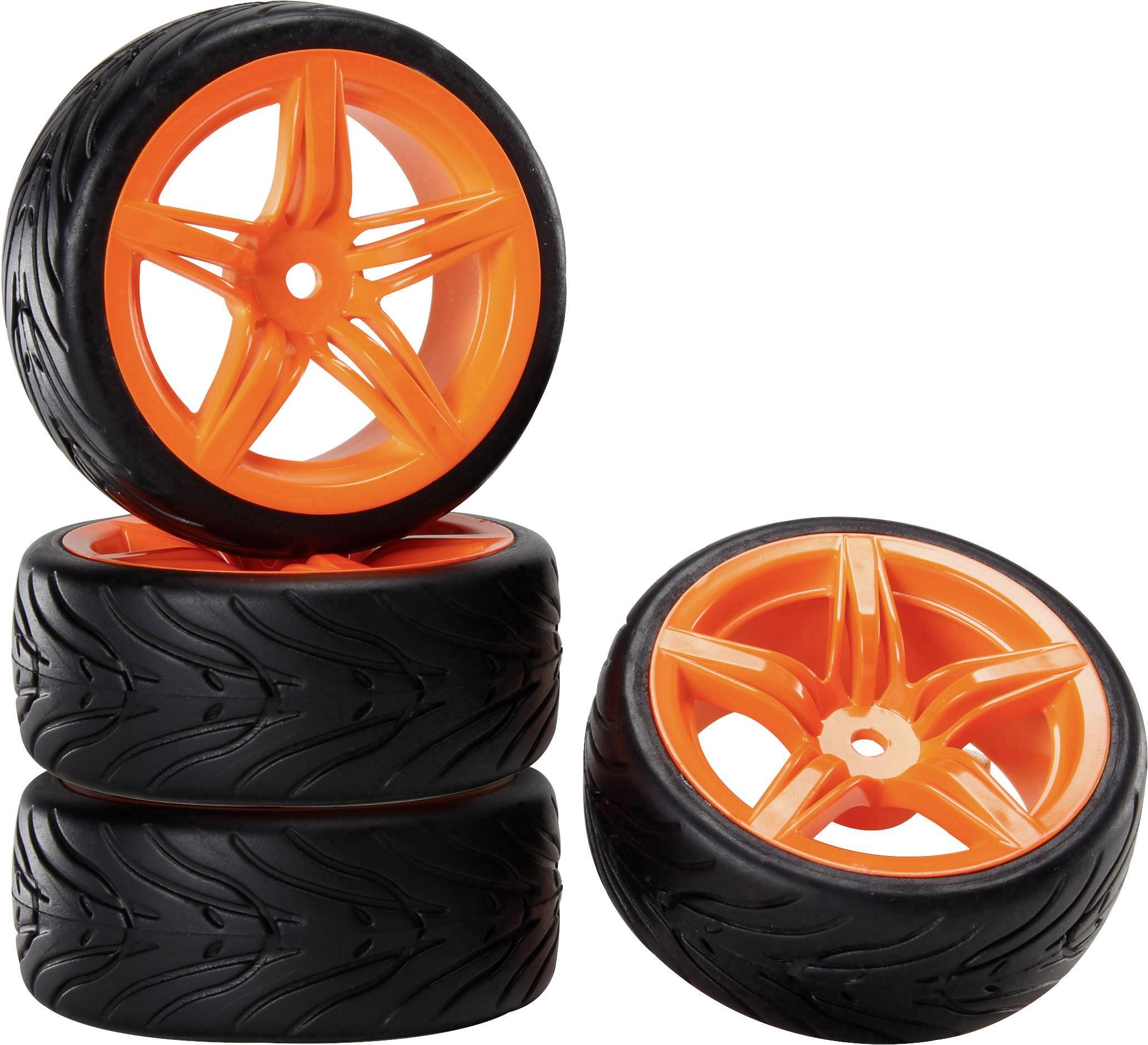 Kompletné kolesá pre cestné modely s ráfikmi a profilom pneumatík (12FO + Devil) Reely