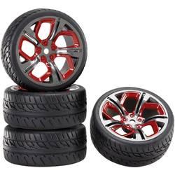 Kompletné kolesá pre cestné modely s ráfikmi a profilom pneumatík (P8MR + racing) Reely