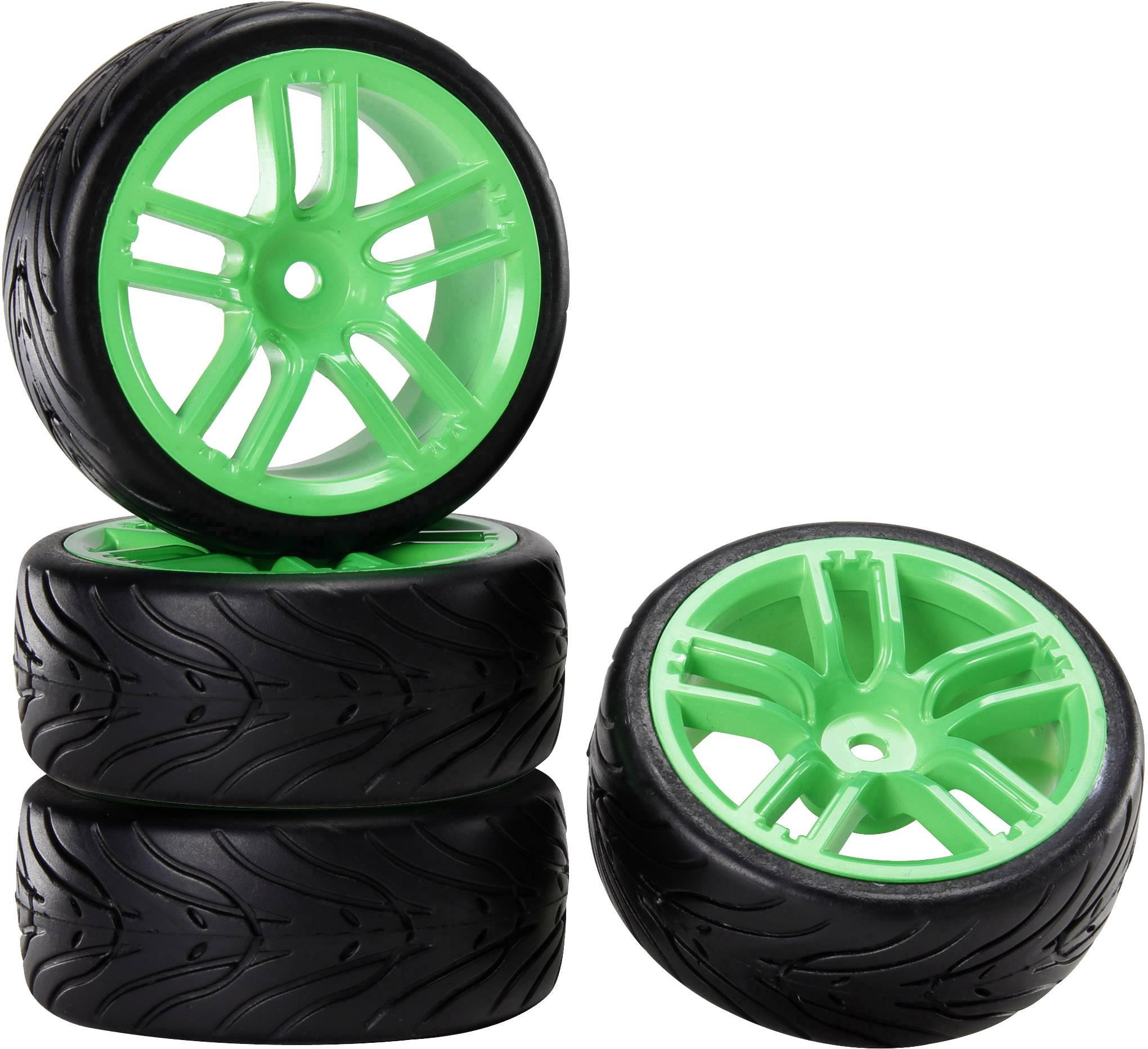 Kompletné kolesá pre cestné modely s ráfikmi a profilom pneumatík (GTGn + Devil) Reely