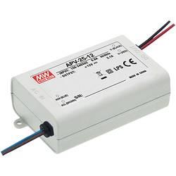 Napájací zdroj pre LED konštantné napätie Mean Well APV-25-12, 25 W (max), 0 - 2.1 A, 12 V/DC