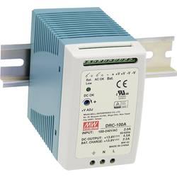 Sieťový zdroj na DIN lištu Mean Well DRC-100A 13.8 V / DC 4.5 A 96 W 2 x