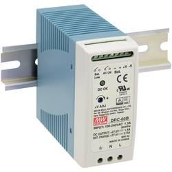 Sieťový zdroj na DIN lištu Mean Well DRC-60B 27.6 V / DC 1.4 A 59 W 2 x