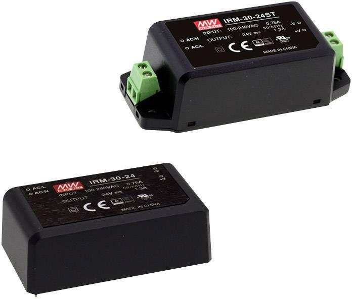 Sieťový zdroj AC/DC do DPS Mean Well IRM-30-12ST, 12 V, 2500 mA, 30 W