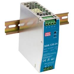 Síťový zdroj na DIN lištu Mean Well NDR-120-24, 1 x, 24 V/DC, 5 A, 120 W
