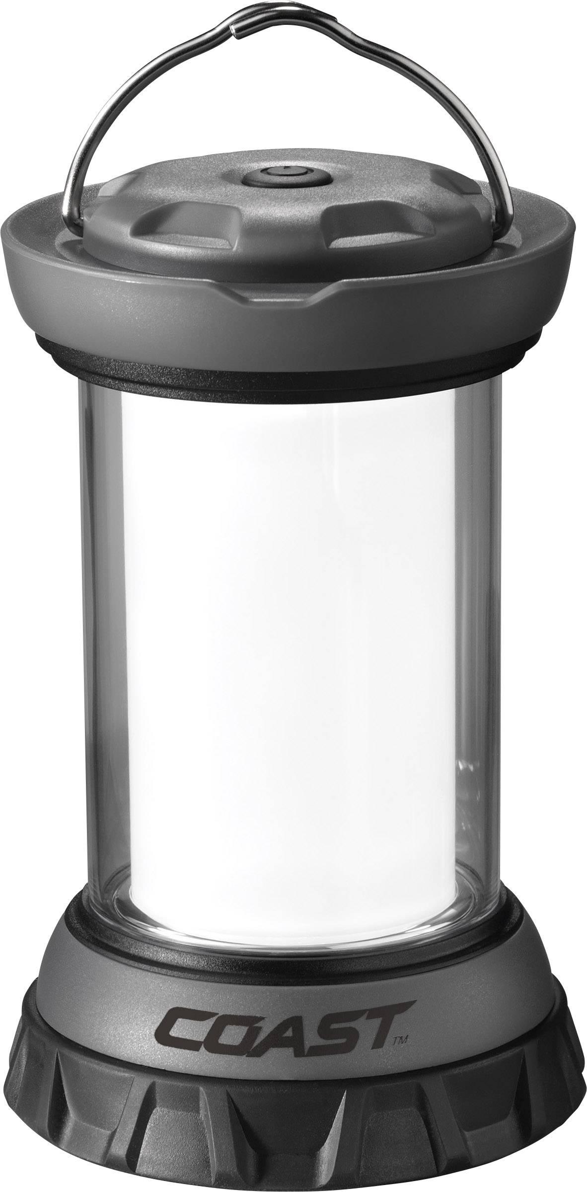 LED kempingová lucerna Coast EAL12 20374, 312 g, černostříbrná