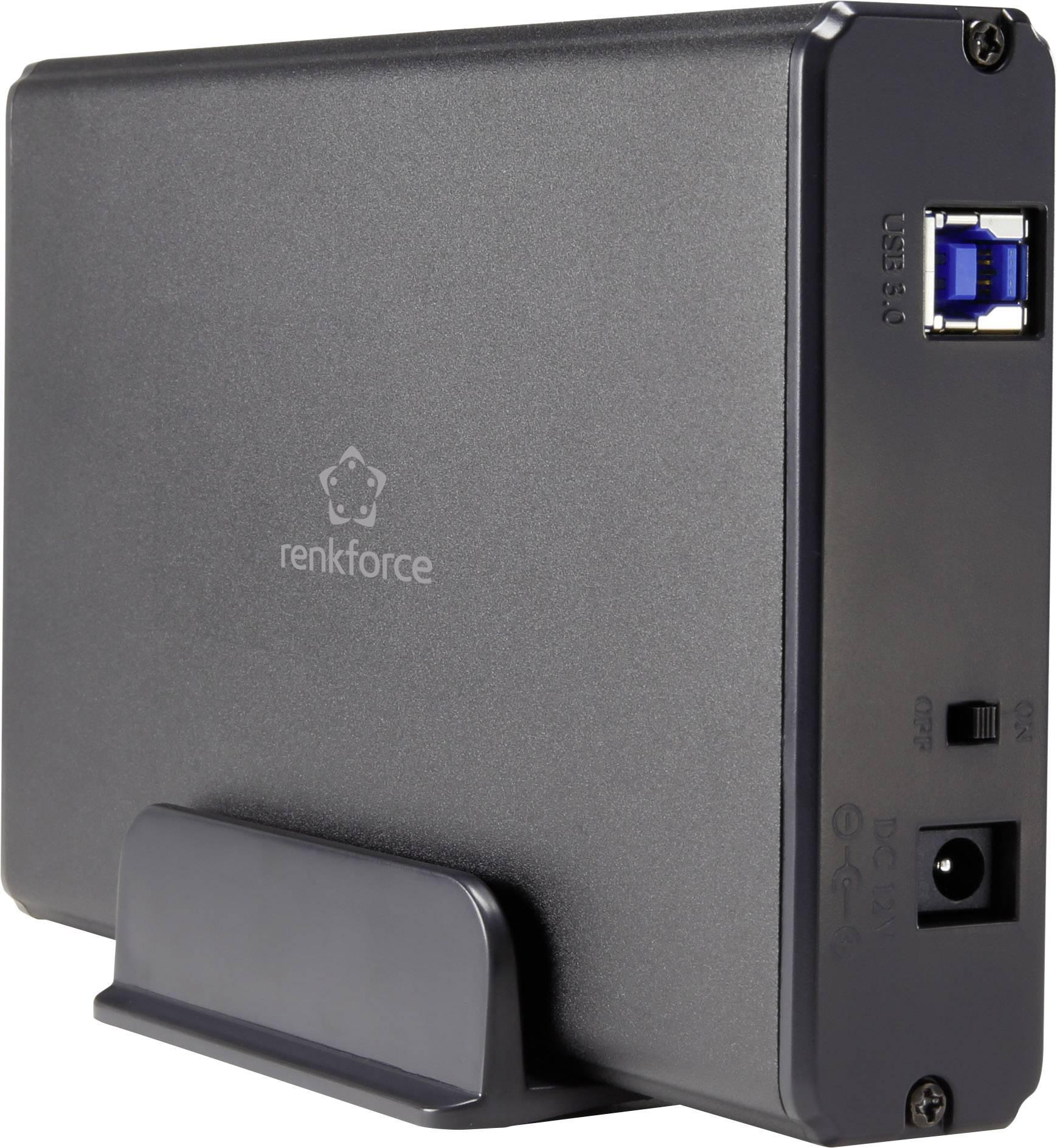 """Pouzdro pevného disku SATA, pouzdro pevného disku IDE 3.5 """" Renkforce RF-4116003 USB 3.0"""