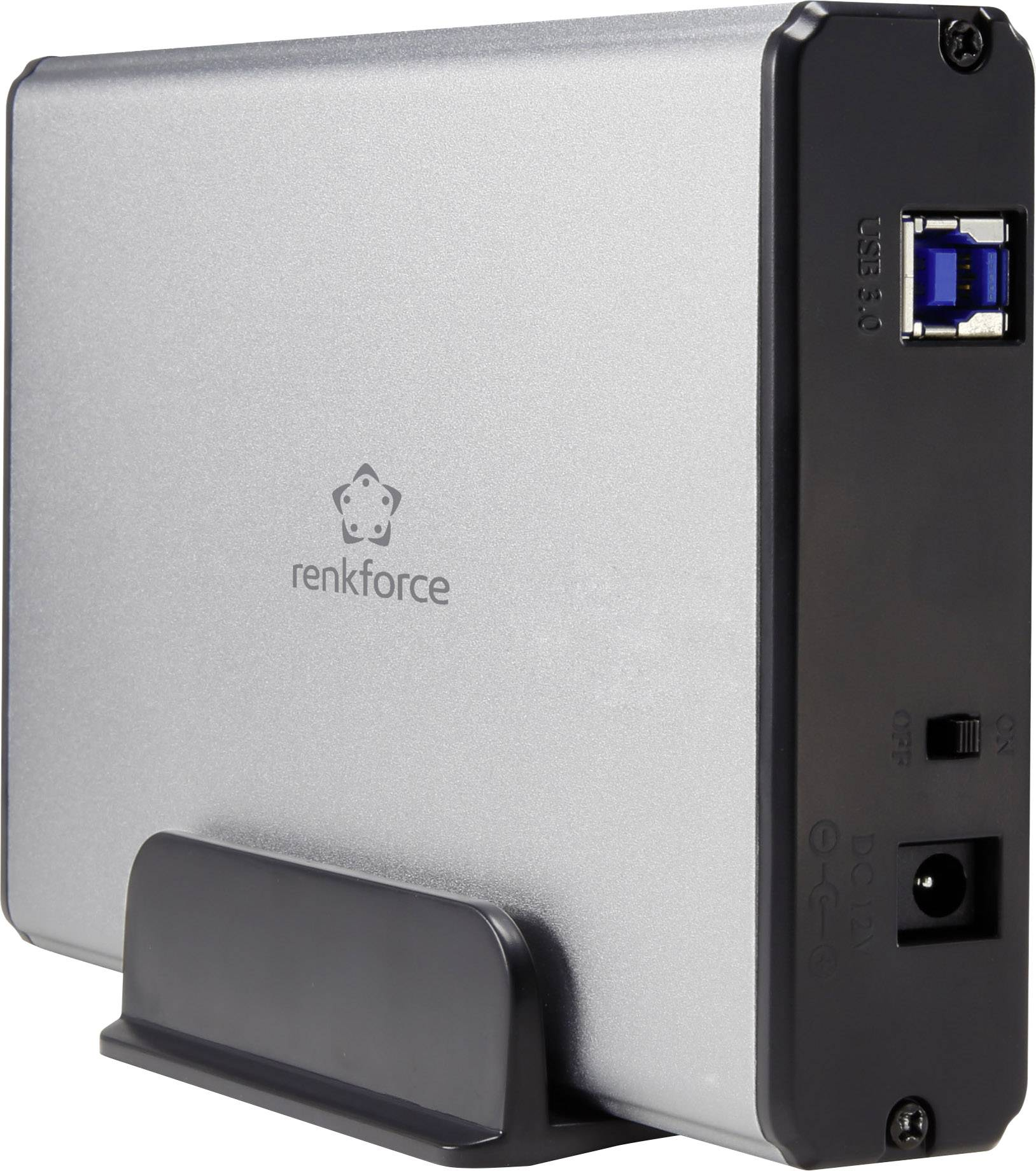 "Pouzdro pro disky SATA 3,5"" Renkforce HDA301J3P USB 3.0"
