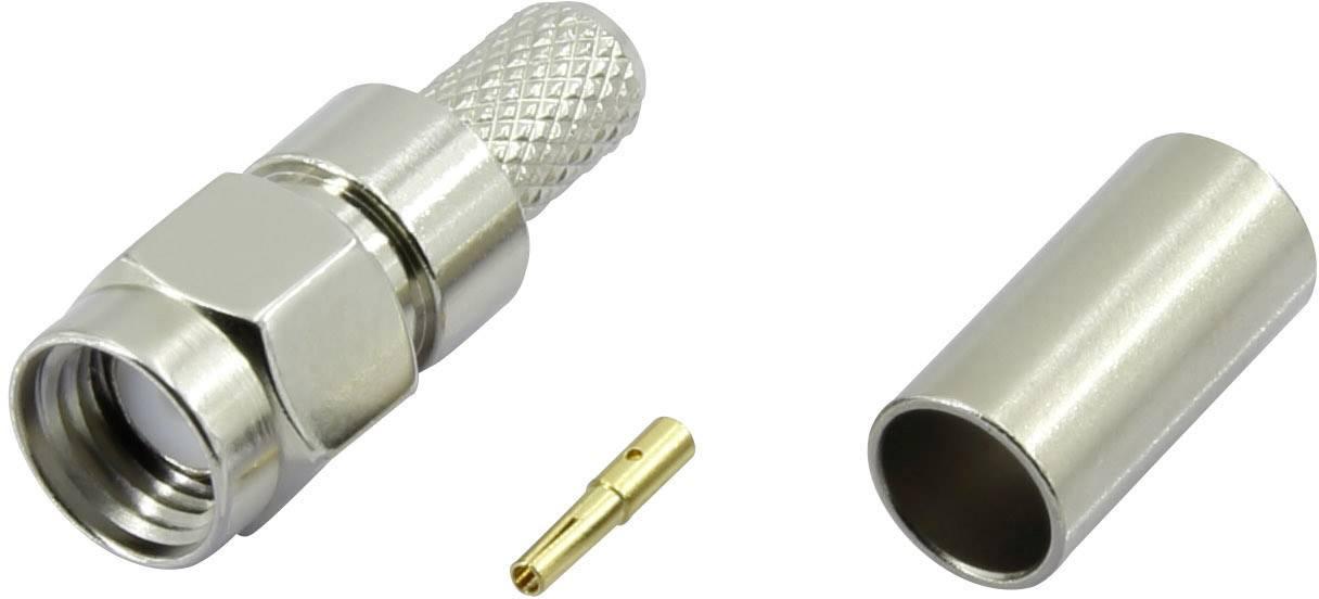 SMA reverzní konektor Conrad Components SMA-JC-RG58-1 – zástrčka, rovná, 3.1 mm, 50 Ohm, 1 ks