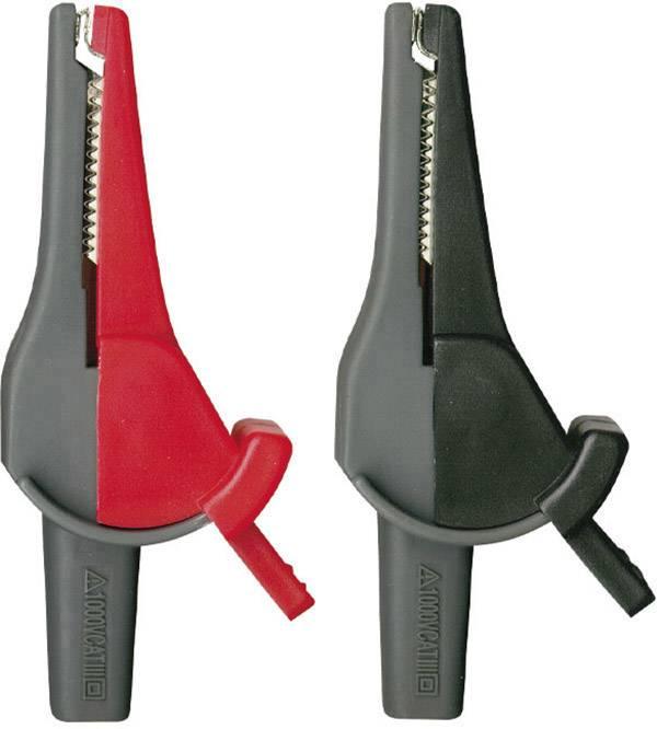 Sada bezpečnostních krokosvorek Beha Amprobe 370012 2146712, zásuvka 4 mm, CAT III 1000 V, CAT IV 600 V, červená, černá