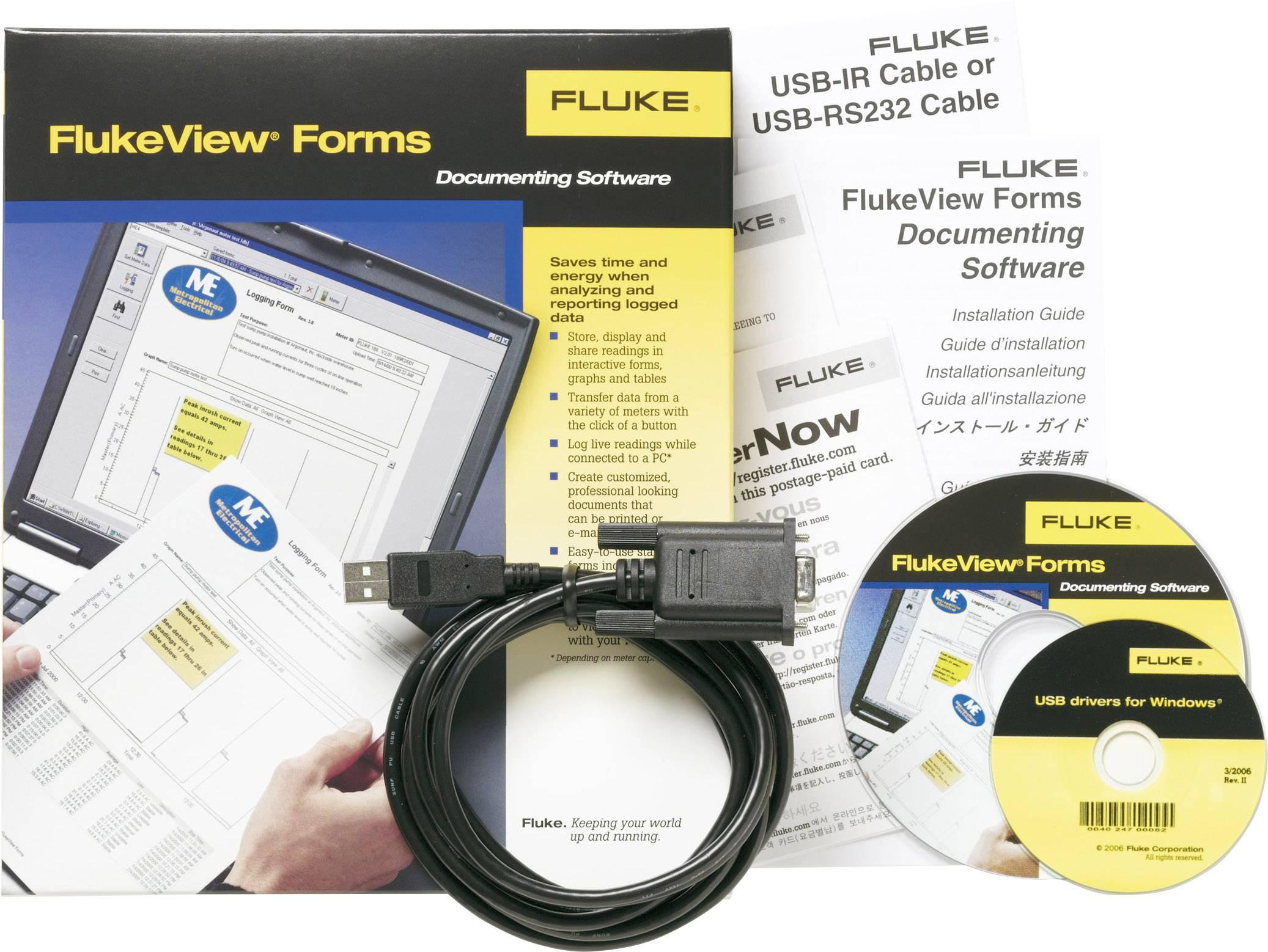 Software Fluke FVF-SC4 vhodný pro Fluke 8845A, Fluke 8846A, Fluke 8808A, Fluke 45
