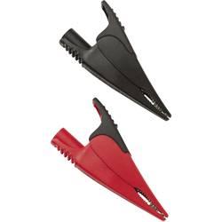 Sada bezpečnostných krokosvoriek Fluke AC285 1610159, zásuvka 4 mm , CAT IV 600 V, CAT III 1000 V, červená, čierna