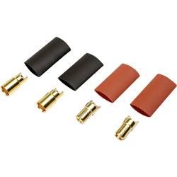 Zásuvkový konektor k prepojeniu akumulátora a regulátora RC modelu Reely 1373193, 6 mm, pozlátené, 2 pár