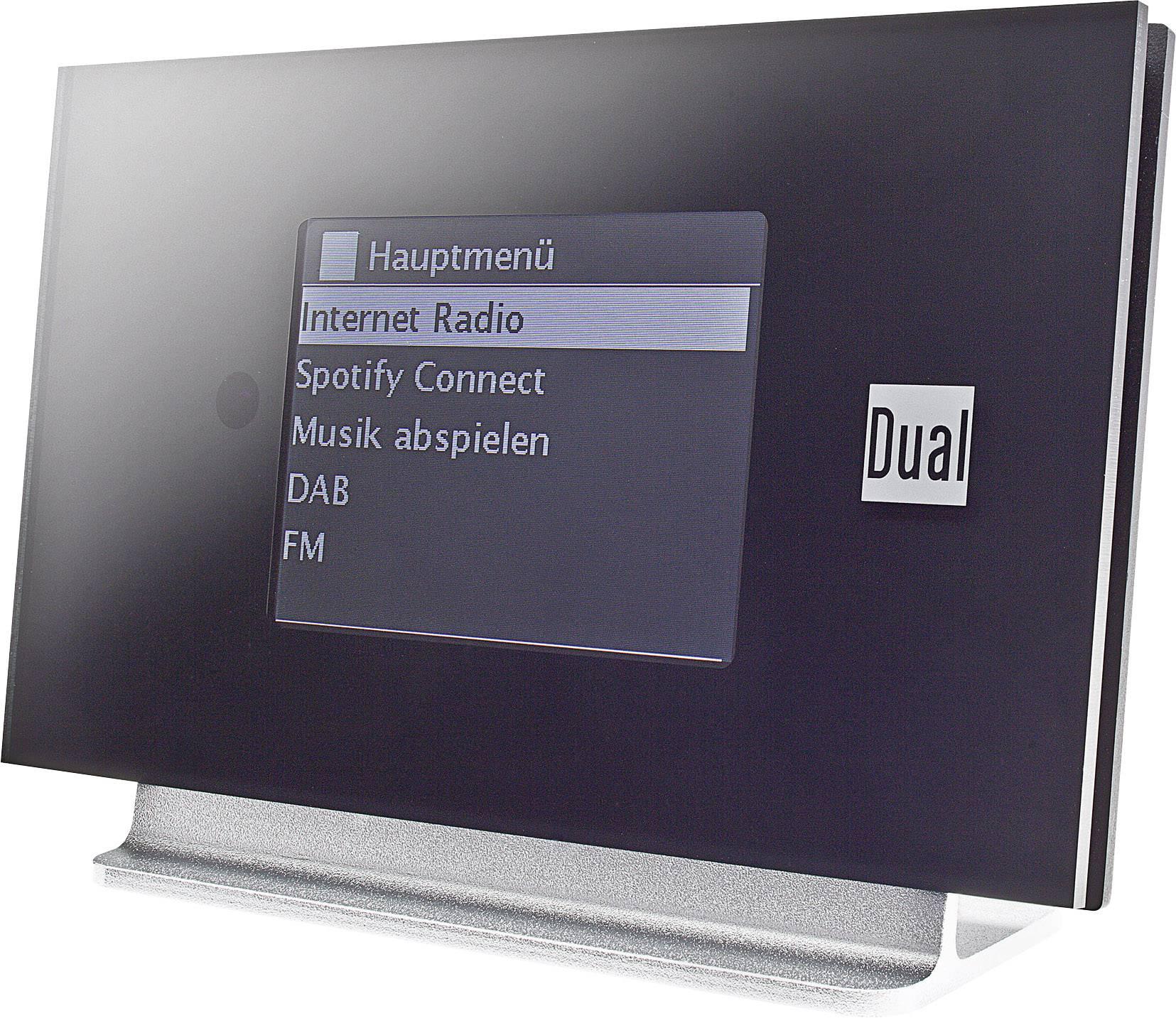 Internetové, DAB+, FM rádio s výstupem bez reproduktoru Dual Radio Station IR 3A, Wi-Fi, černá, stříbrná