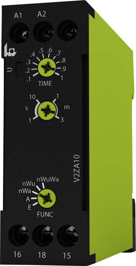 Multifunkční časové relé tele V2ZA10 3MIN 24-240V AC/DC, čas.rozsah: 0.1 s - 3 min, 1 přepínací kontakt 1 ks