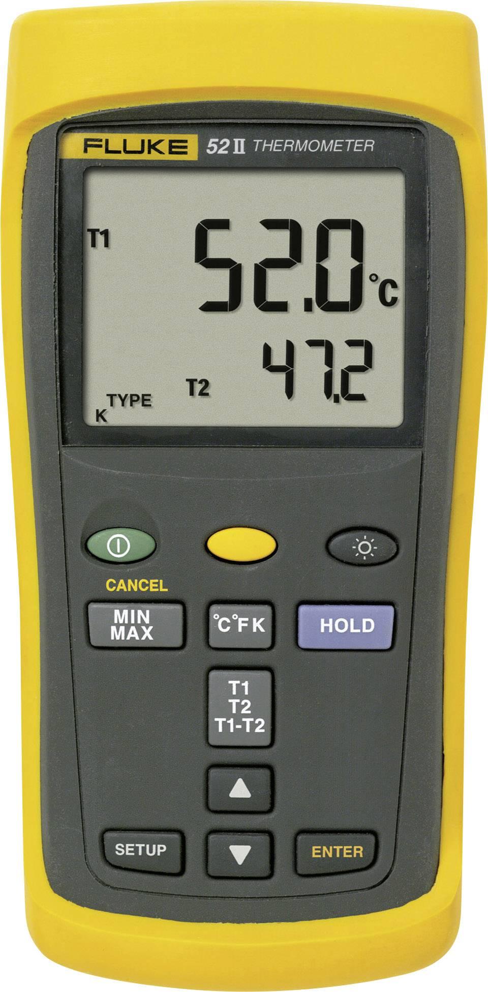 Teploměr Fluke 52 II, -250 až +1372 °C, typ senzoru J , K, T , E