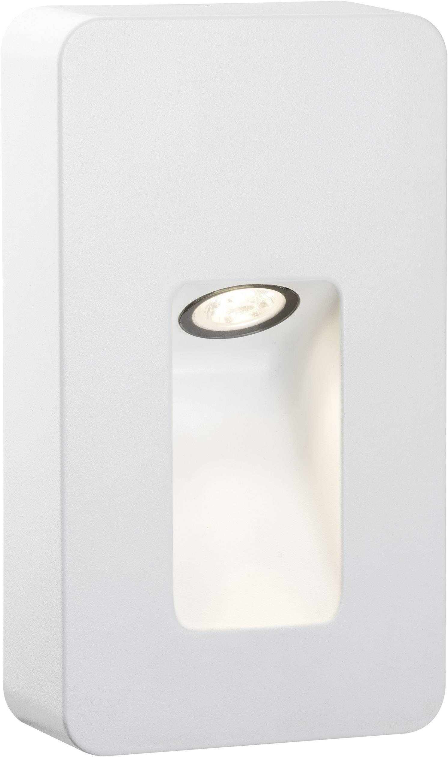 LEDvonkajšie nástennéosvetlenie 2.4 W teplá biela Paulmann Slot 93809 biela (matná)
