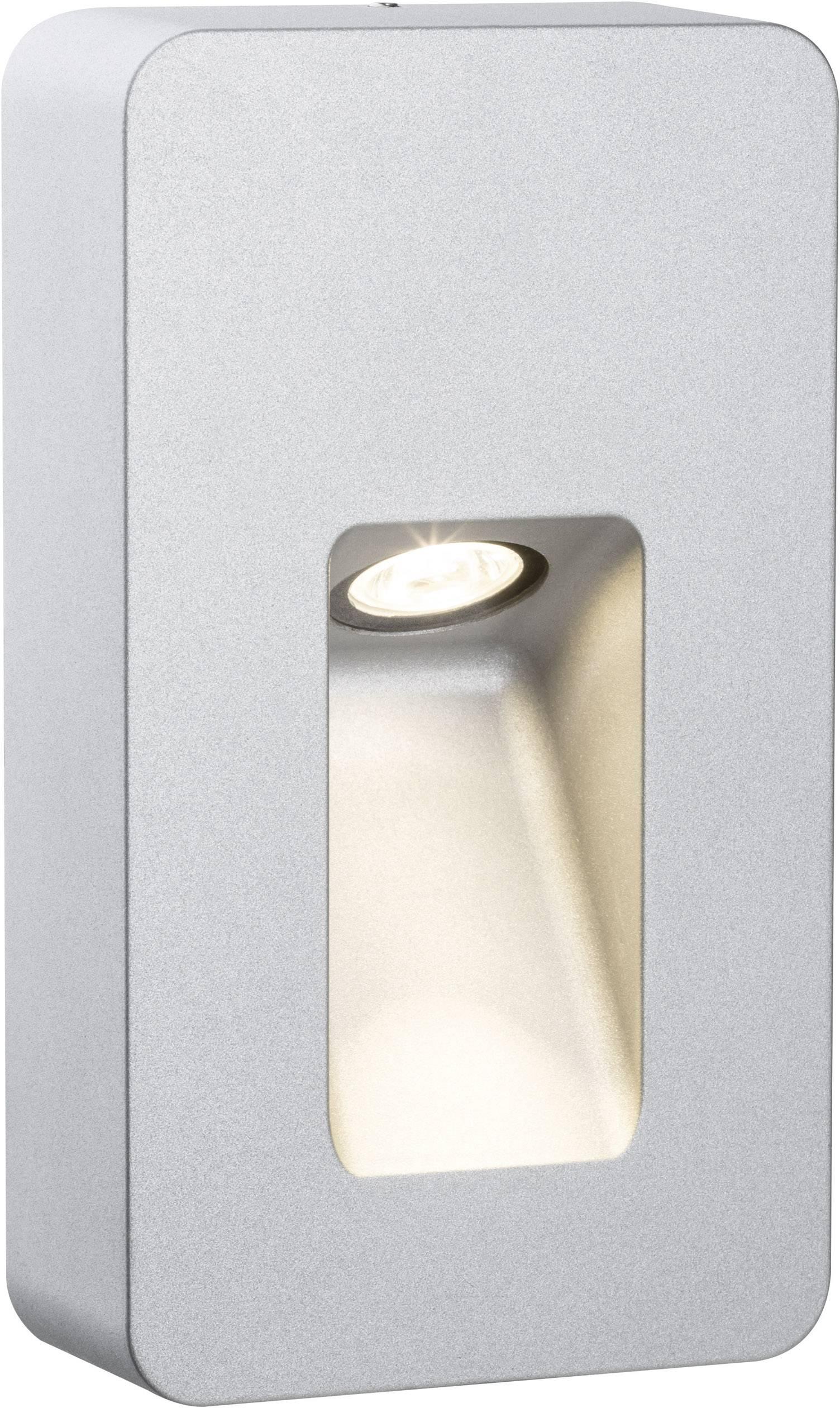 LEDvonkajšie nástennéosvetlenie 2.4 W teplá biela Paulmann Slot 93825 hliník (matný)
