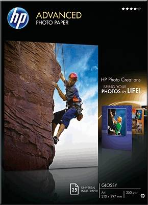 Fotografický papír HP Advanced Photo Paper Q8698A, A4, 250 gm², 50 listů, lesklý