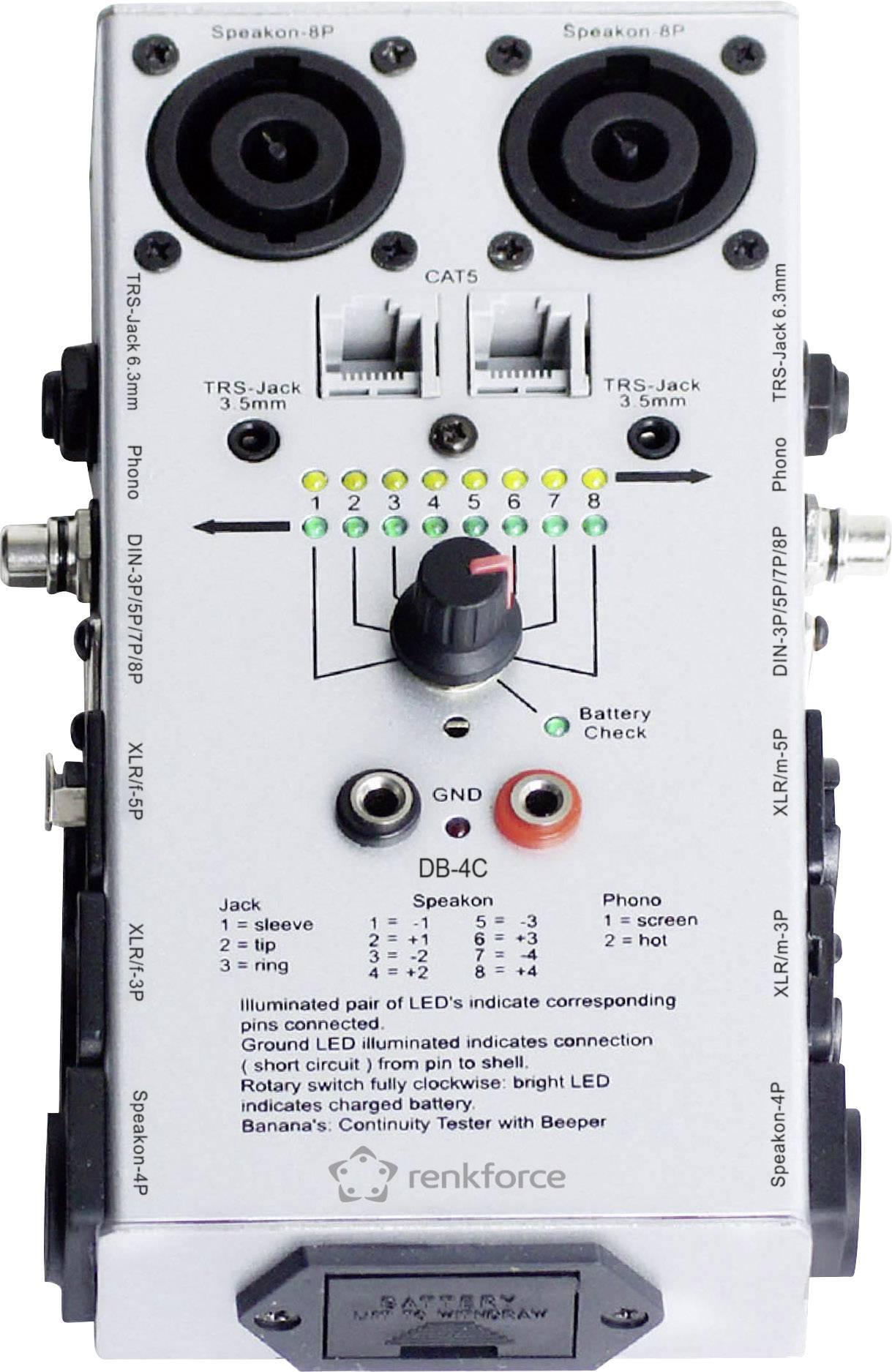 Tester káblov RENKFORCE DB-4C