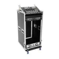 Kufor na mixážny pult Roadinger Spezial-Kombi-Case 20 HE 30110004, (d x š x v) 615 x 550 x 1135 mm, čierna, strieborná