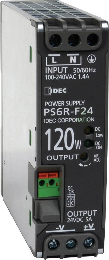 Síťový zdroj na DIN lištu Idec PS6R-F24, 1 x, 24 V/DC, 5 A, 120 W