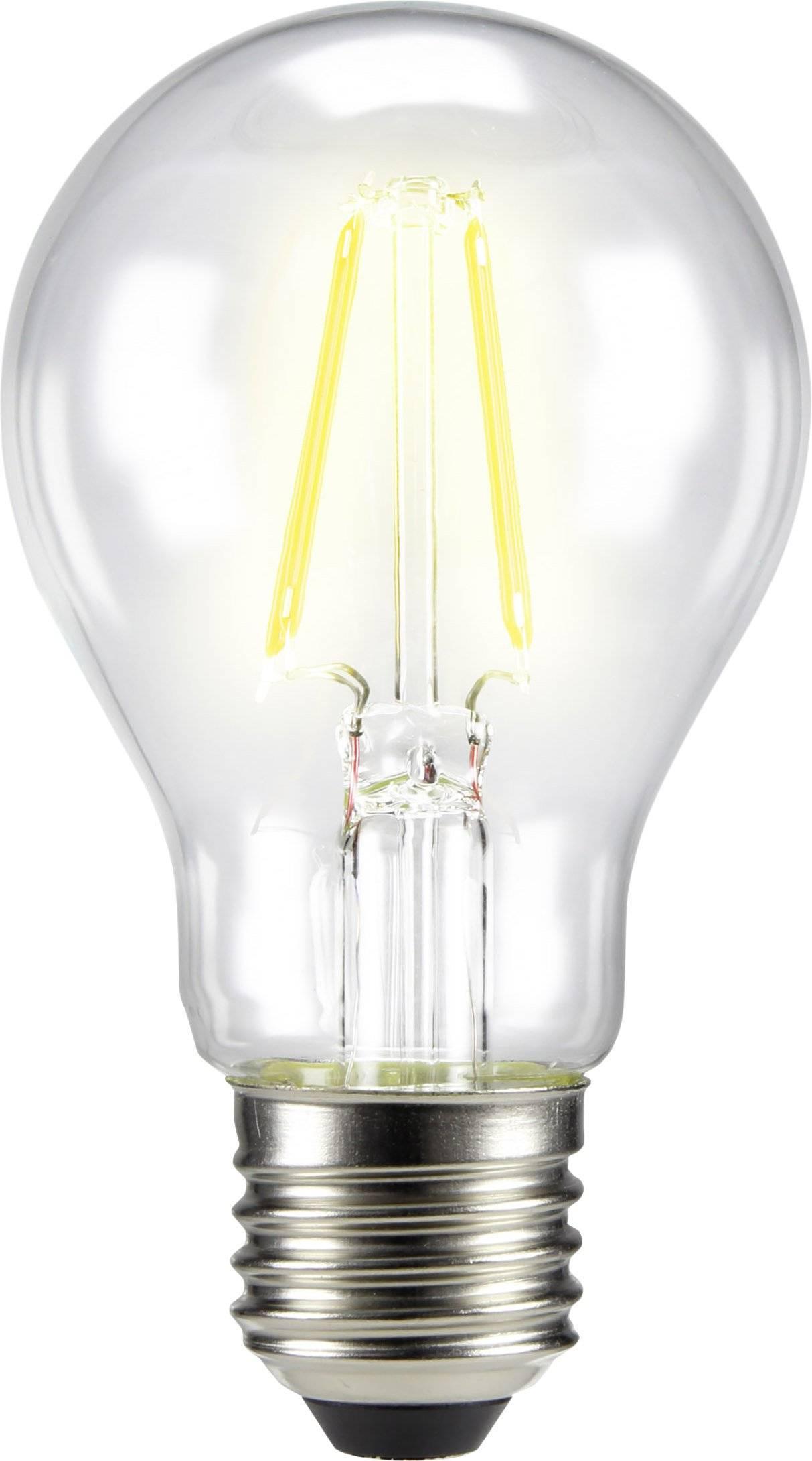 LED žiarovka Sygonix, E27, 6 W, 230 V, teplá biela