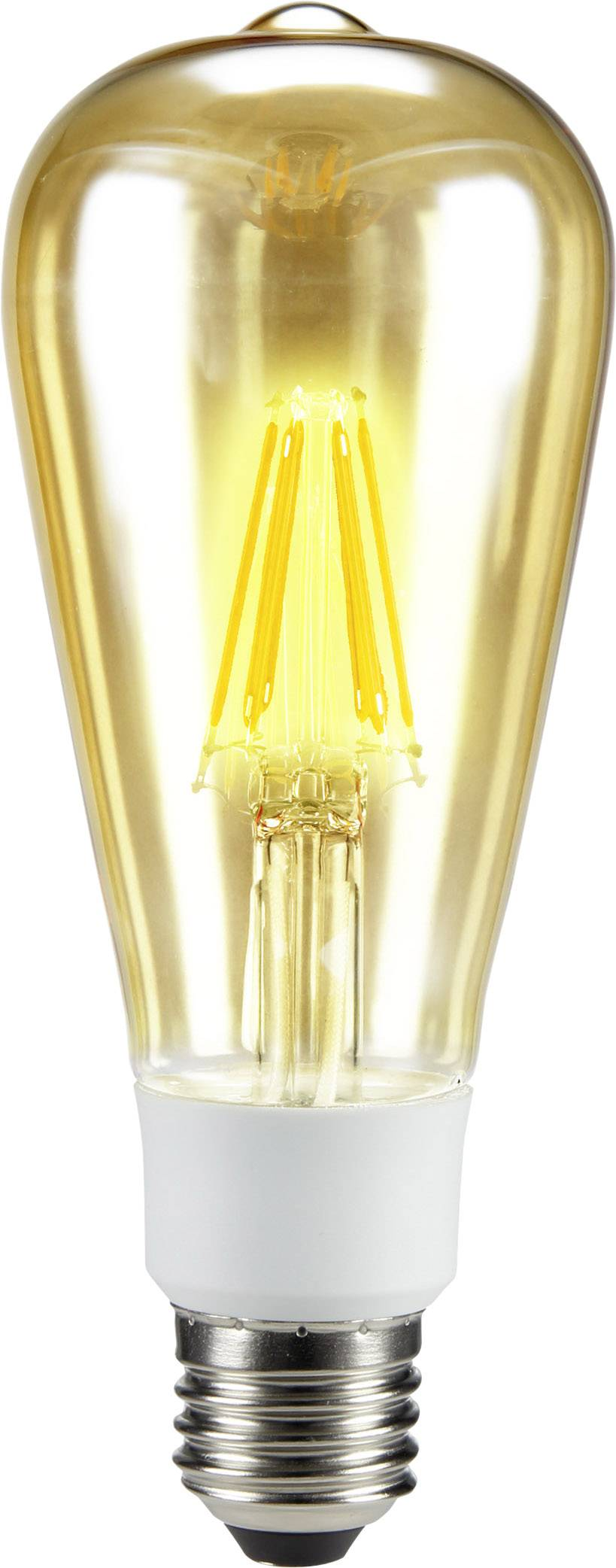 LED žárovka Sygonix STS6022 230 V, E27, 7 W = 60 W, teplá bílá, A++ (A++ - E), vlákno, stmívatelná, 1 ks