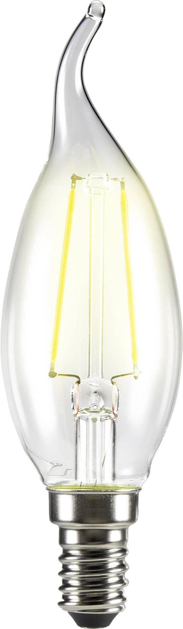 LED žárovka Sygonix 1376689 230 V, E14, 2 W = 25 W, teplá bílá, A++ (A++ - E), vlákno, 1 ks
