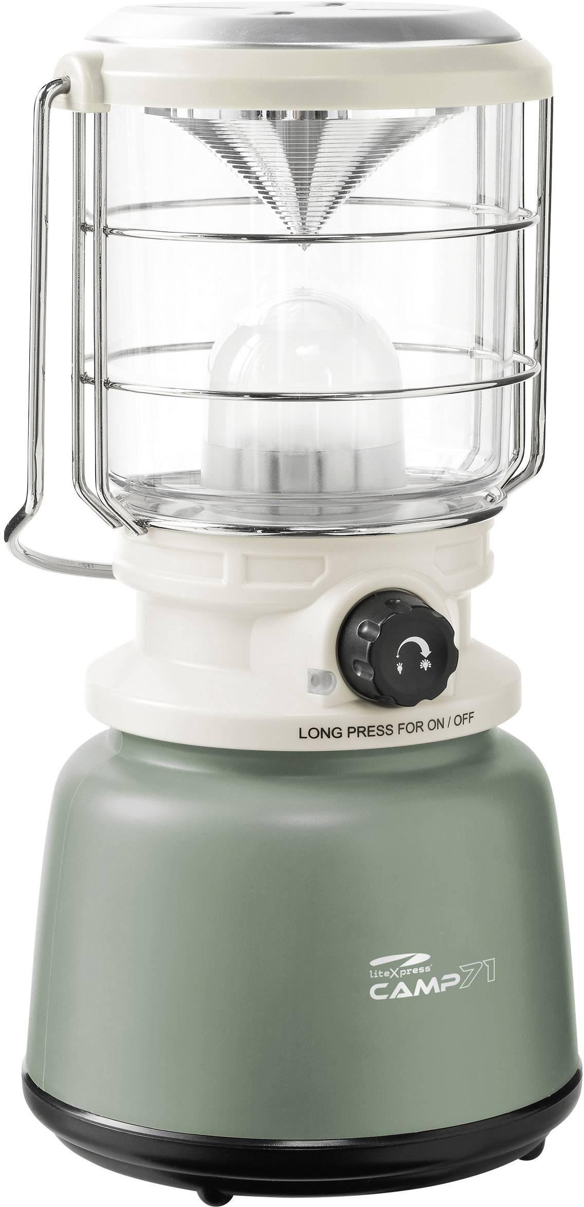 LED campingový lampáš LiteXpress Camp 71 LXL907078B, 1255 g, biela/zelená