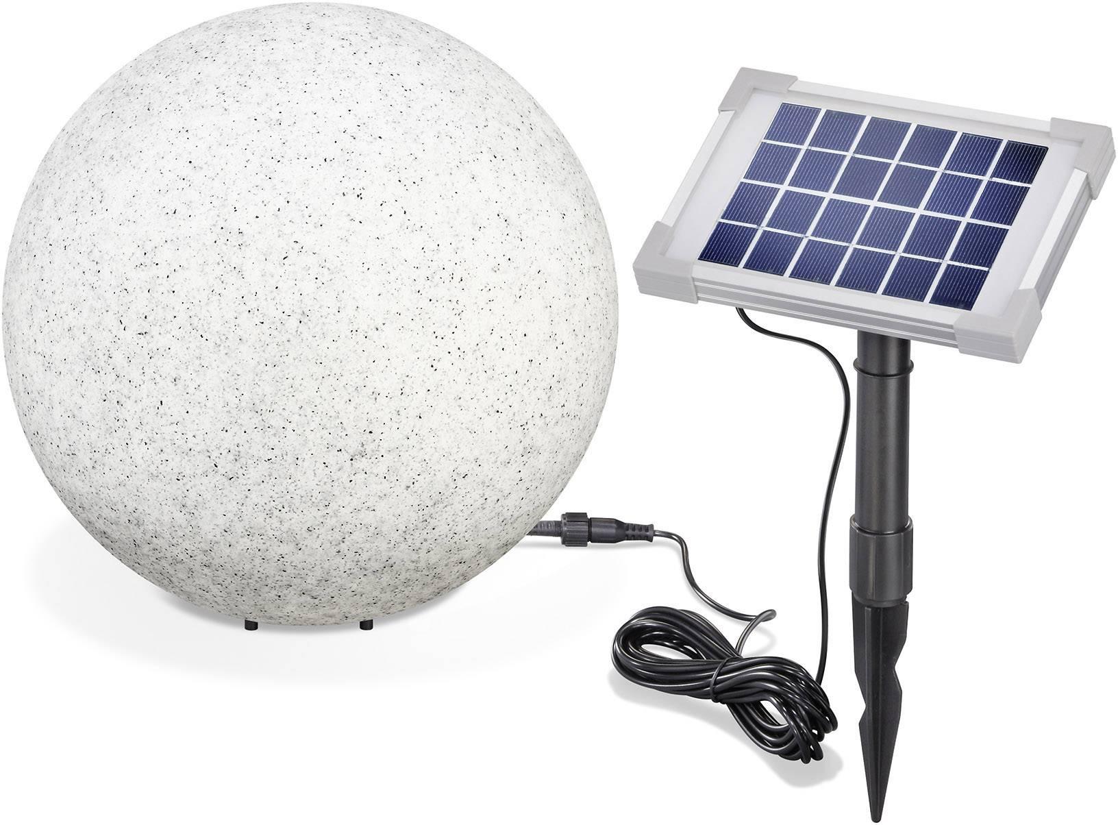 LED solárne dekoračné osvetlenie kameň Esotec Mega Stone 30 106020, IP65, sivá, RGB