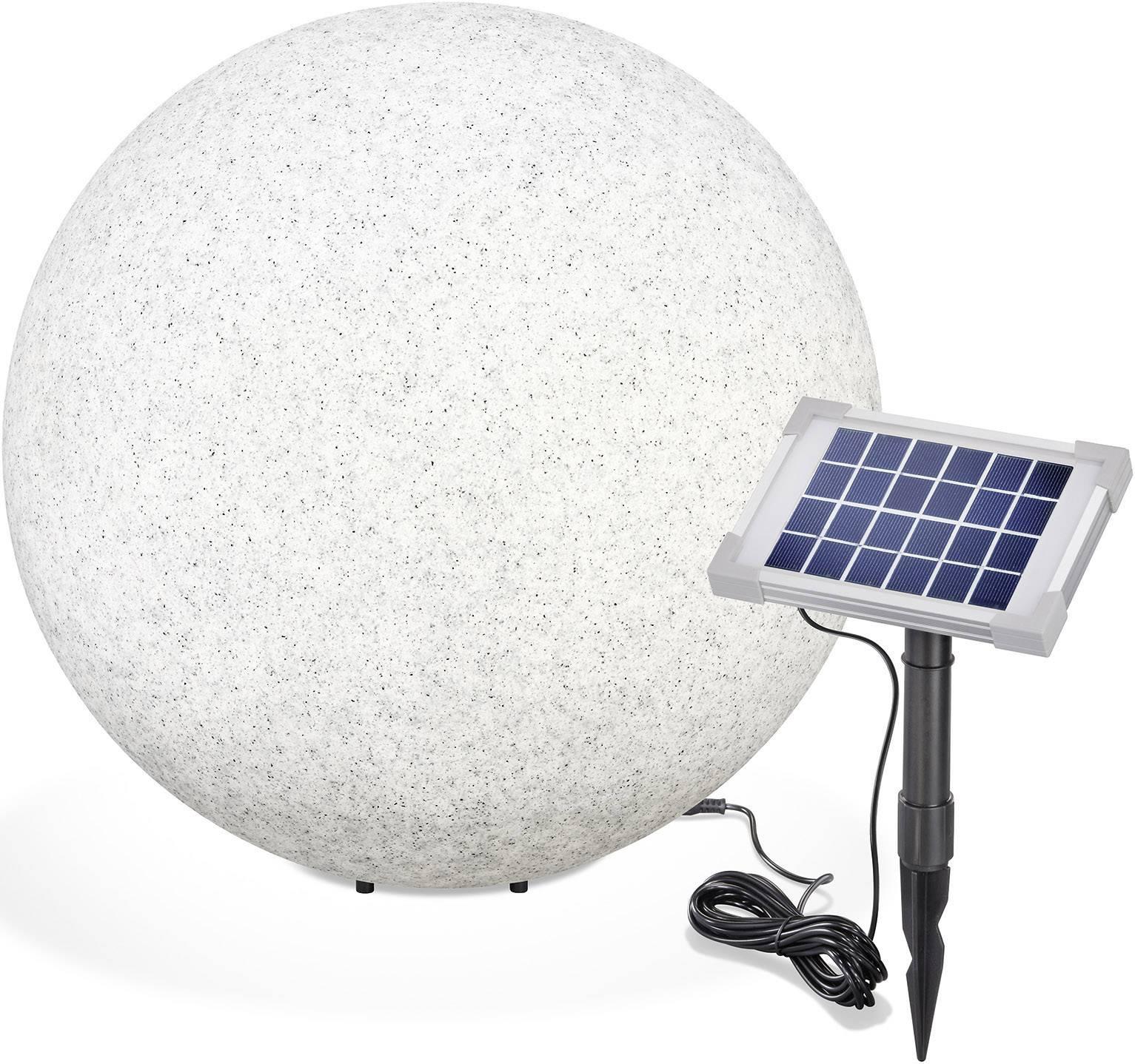 LED solární dekorativní osvětlení – kámen Esotec Mega Stone 50, IP65, šedá
