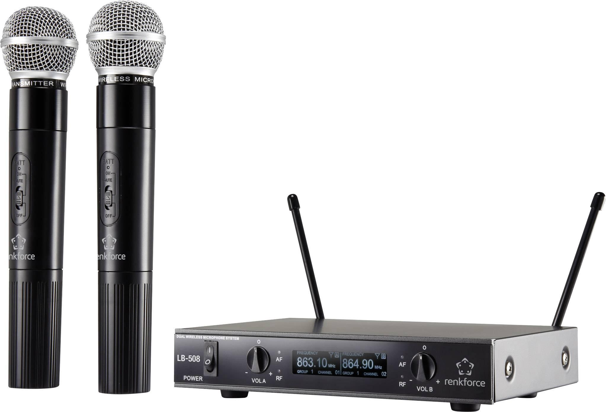Sada bezdrôtovým mikrofónov RENKFORCE LB-505