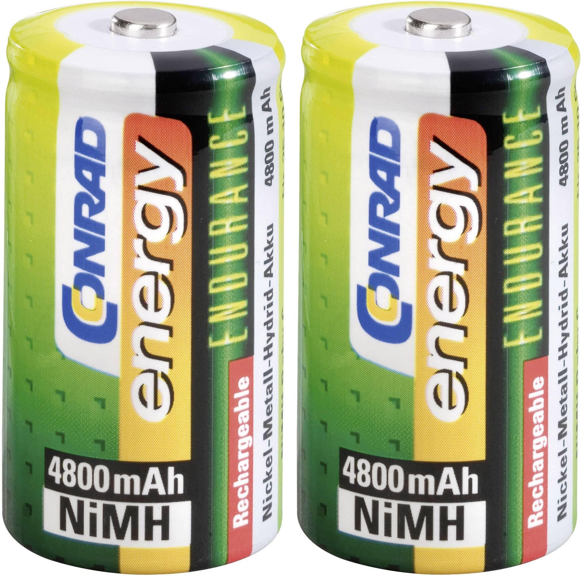 Akumulátor typu C Conrad energy Endurance HR14, NiMH, 4800 mAh, 1.2 V, 2 ks