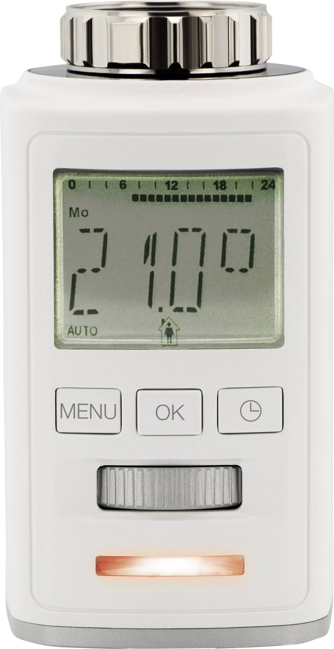 Bezdrôtová termostatatická hlavica na radiátor ovládaná cez smartfón Sygonix HT100 BT, Bluetooth 4.0