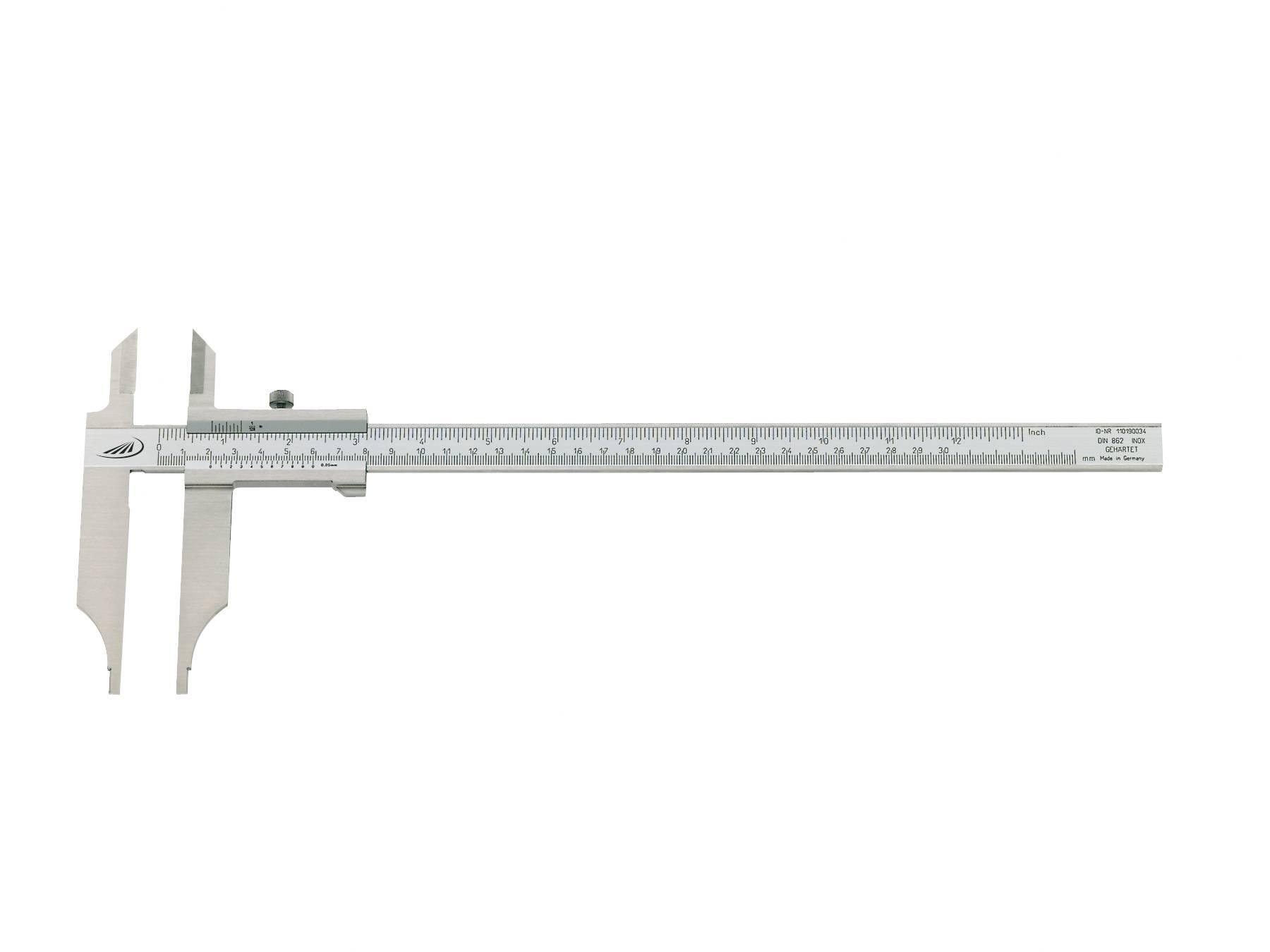 Posuvné měřítko HELIOS PREISSER 0234203, měřicí rozsah 300 mm, Kalibrováno dle DAkkS / mé číslo pro ISO