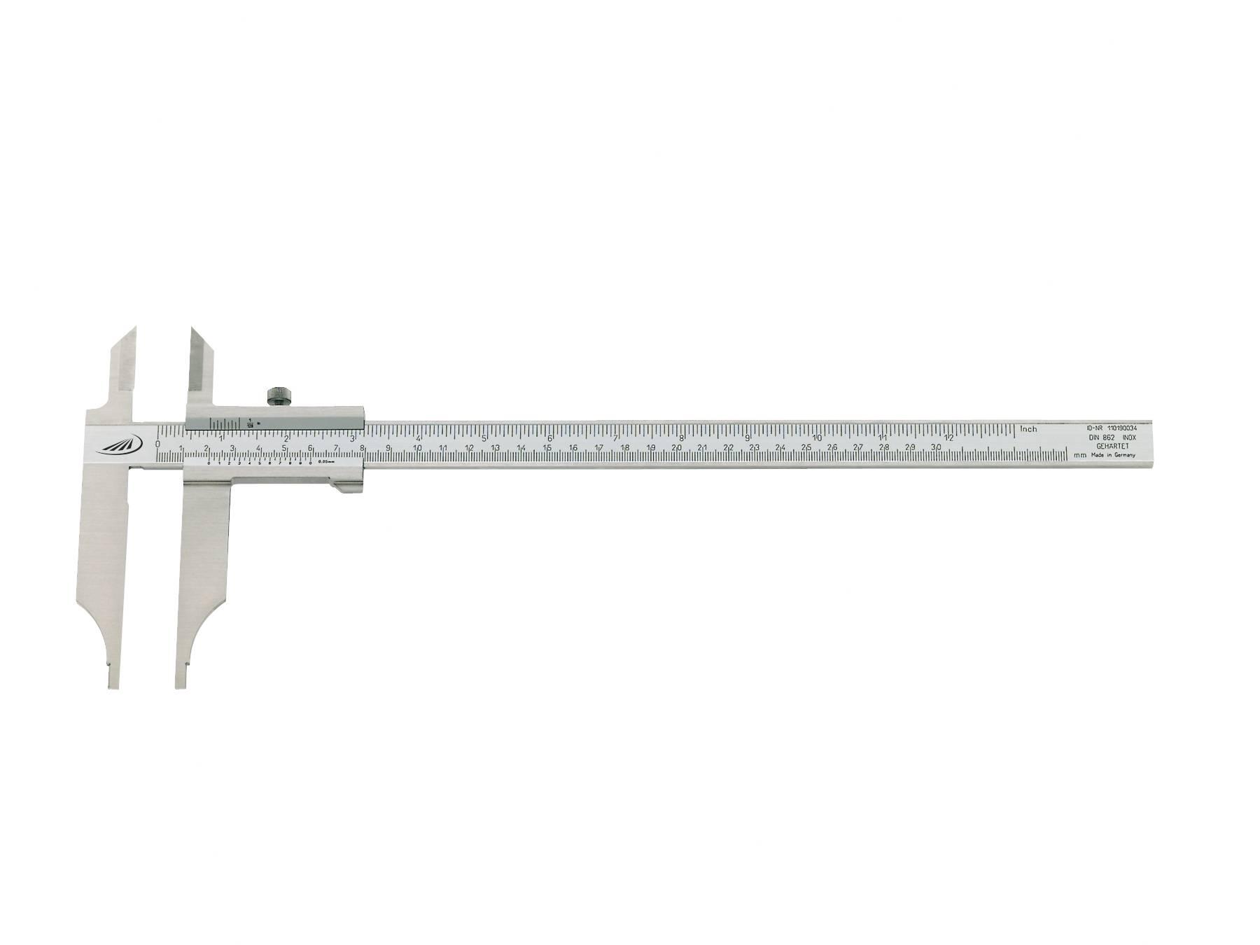 Posuvné měřítko HELIOS PREISSER 0234208, měřicí rozsah 500 mm, Kalibrováno dle DAkkS / mé číslo pro ISO