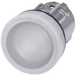 Světelný hlásič Siemens 3SU1051-6AA60-0AA0, plochý, bílá, 1 ks