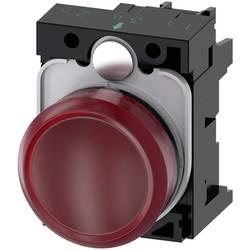 Světelný hlásič Siemens 3SU1102-6AA20-1AA0, plochý, 24 V/AC, 24 V/DC, červená, 1 ks