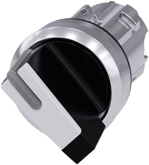 Otočný spínač Siemens SIRIUS ACT 3SU1052-2BF60-0AA0, 1 x 90 °, čierna, biela, 1 ks