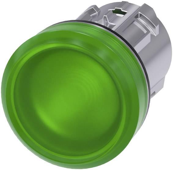 Signalizační světlo Siemens 3SU1051-6AA40-0AA0, plochý, zelená, 1 ks
