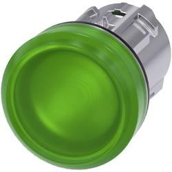 Světelný hlásič Siemens 3SU1051-6AA40-0AA0, plochý, zelená, 1 ks