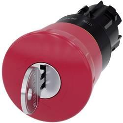 Núdzový vypínač, guľové tlačidlo Siemens SIRIUS ACT 3SU1000-1HF20-0AA0, na kľúč, červená, 1 ks