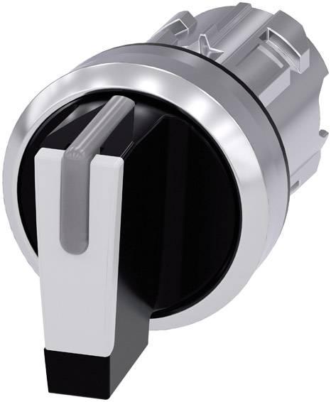 Otočný spínač Siemens SIRIUS ACT 3SU1052-2BL60-0AA0, 2 x 45 °, čierna, biela, 1 ks